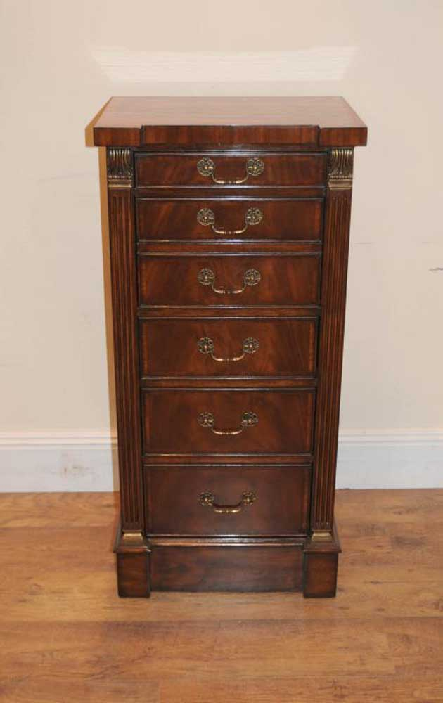 Mahogany Wellington Desk Secretaire Campaign Chest