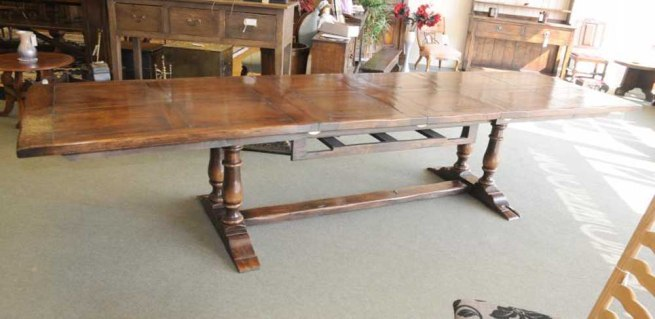 Oak Extending Refectory Table Farmhouse Kitchen Diner