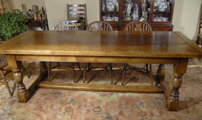 Oak Farmhouse Refectory Table - 8 ft 244 CM English Kitchen Dining