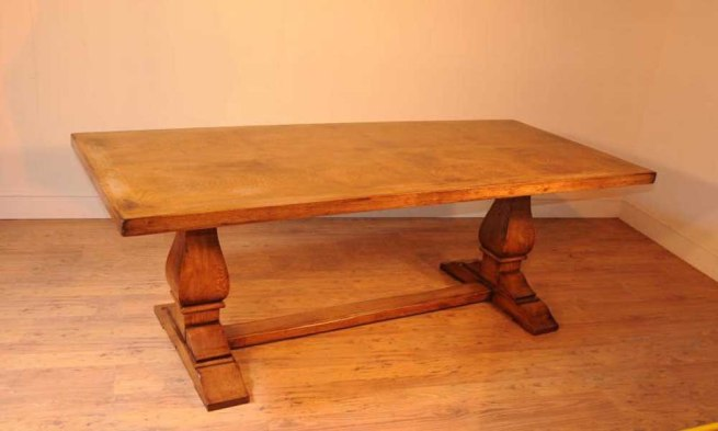 Oak Farmhouse Refectory Table Kitchen Dining Tables Rustic Furniture