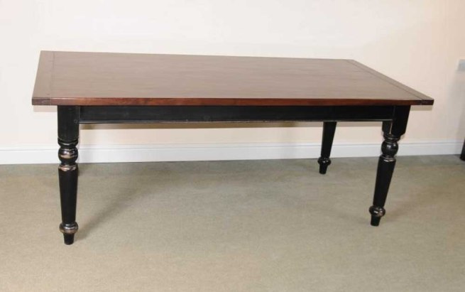 Oak Refectory Table Painted Base Kitchen Farmhouse Dining Tables
