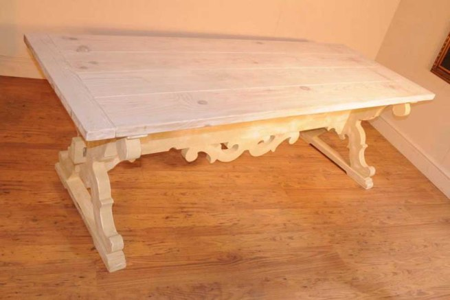 Painted Farmhouse Refectory Table Oak Kitchen Dining Tables Rustic