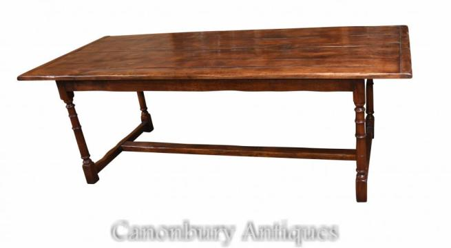 Slim Refectory Table English Oak Farmhouse Furniture