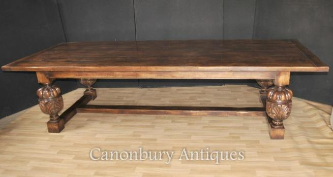 XL 10 ft French Oak Rustic Refectory Kitchen Dining TableXL 10 ft French Oak Rustic Refectory Kitchen Dining Table