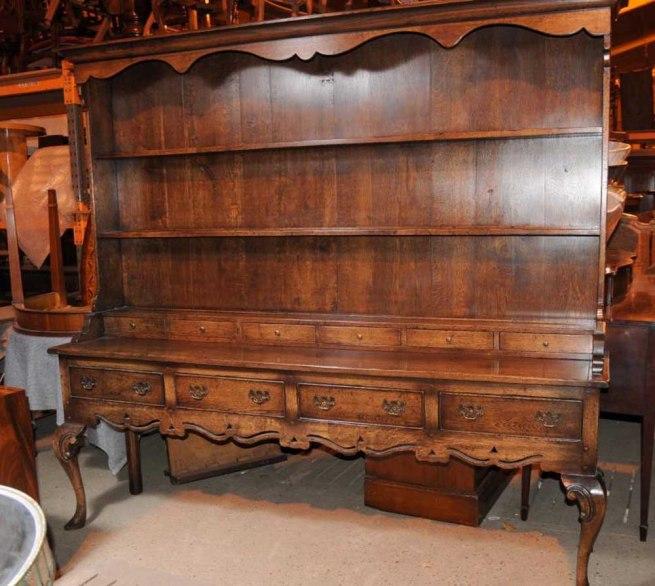 XL Oak Farmhouse Welsh Dresser Kitchen Server Cabinet Cupboard