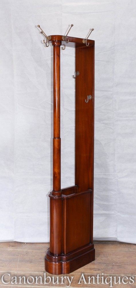 Art Deco Hat and Coat Stand Mahogany Hall