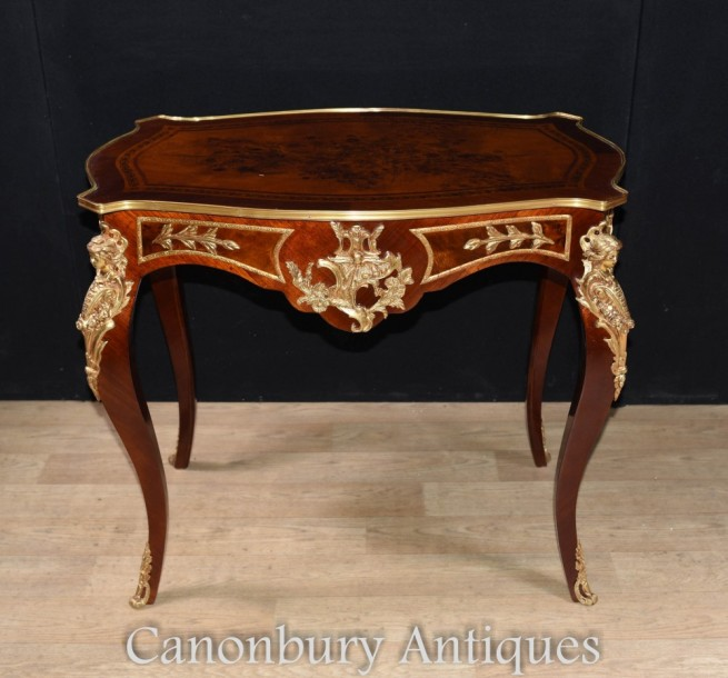 French Empire Console Table Ormolu Maiden