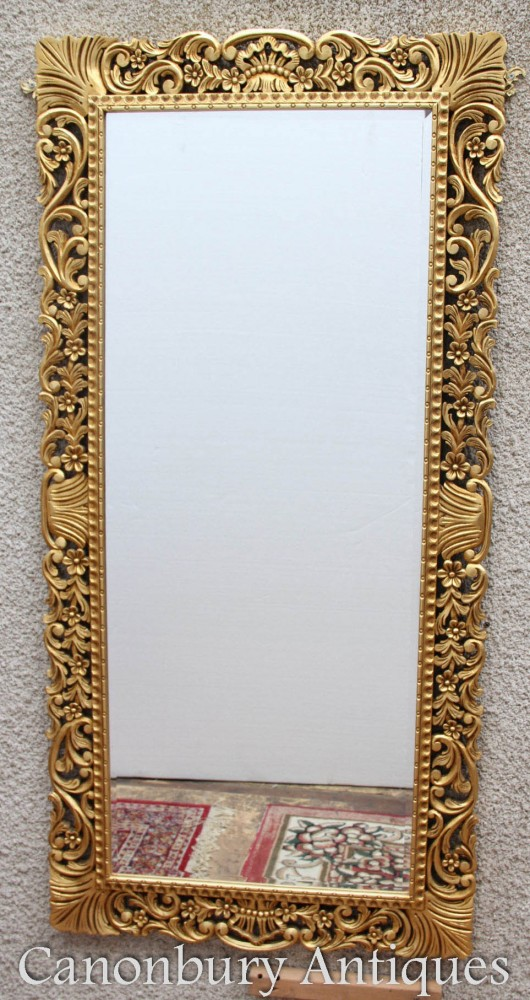 French Rococo Overmantle Mirror - Gorgeous Gilt Pier Mirrors