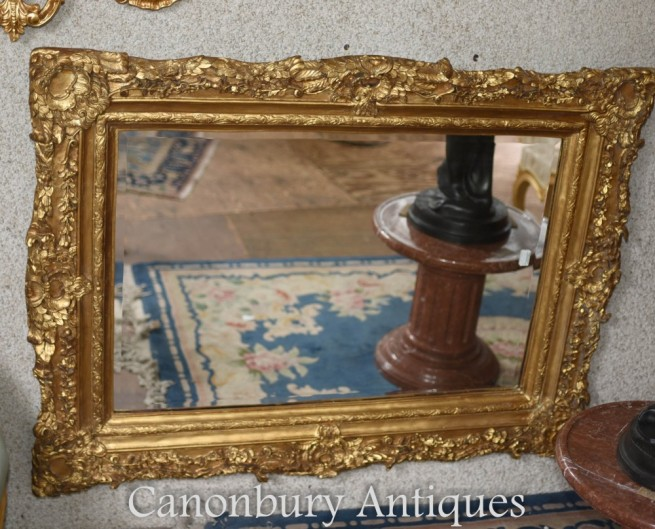 Gilt Mantle Mirror - English Regency Glass Overmantle