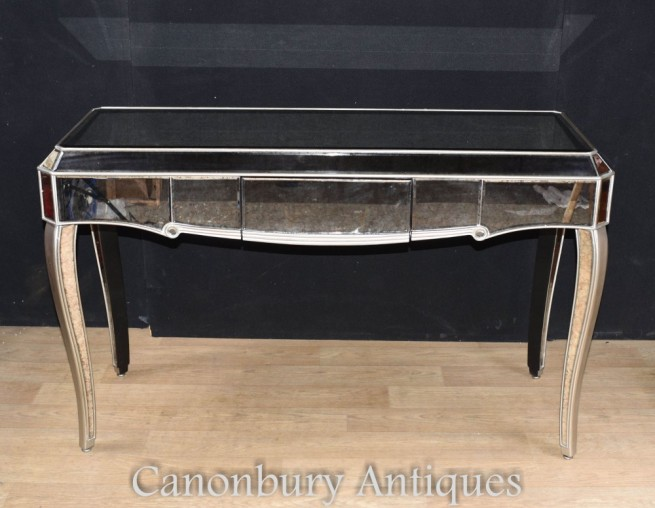 Mirrored Console Table - Art Deco Hall Tables