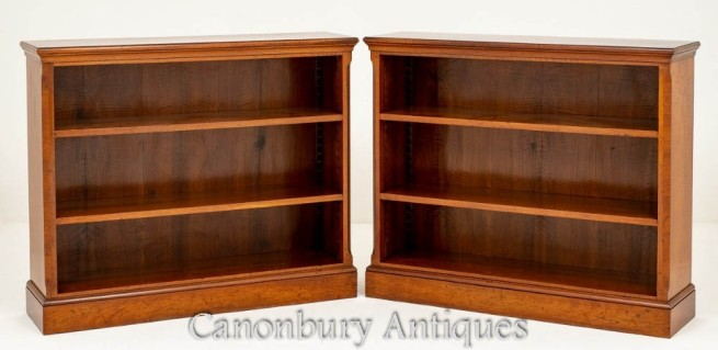 Pair Victorian Open Bookcases in Mahogany Circa 1890
