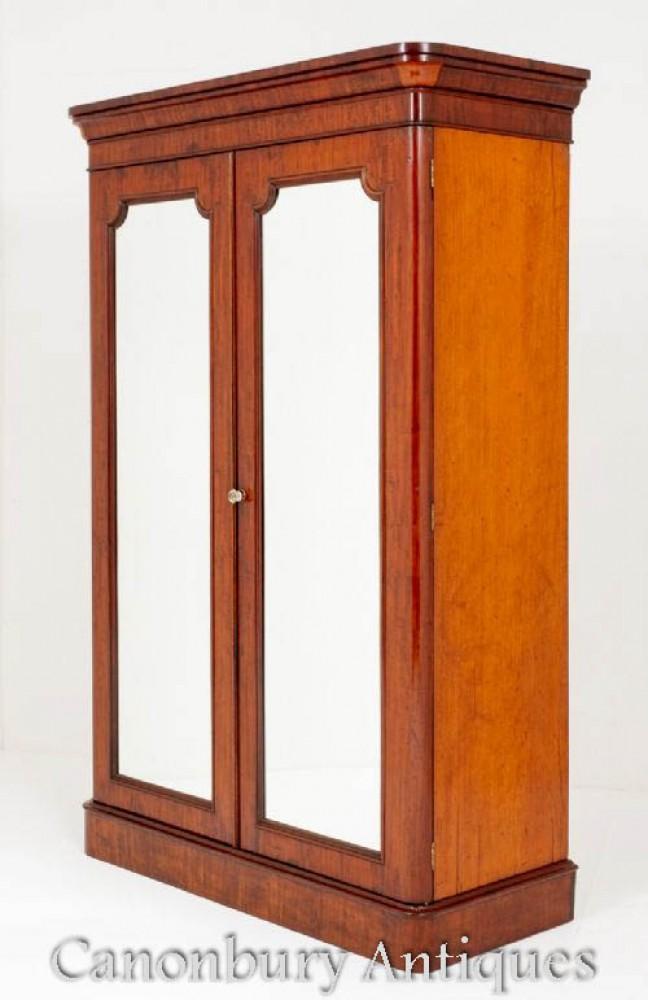 Victorian Wardrobe Mahogany Closet Circa 1860