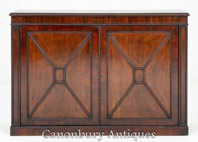 William IV Cabinet Chest Mahogany 19th Century