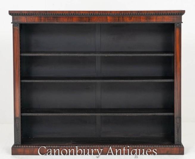 William IV Open Bookcase Antique 19th Century