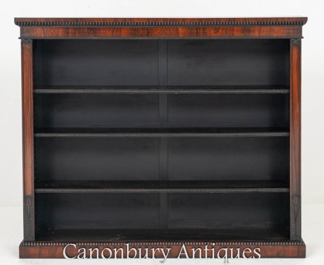 William IV Open Bookcase Antique 19th Century
